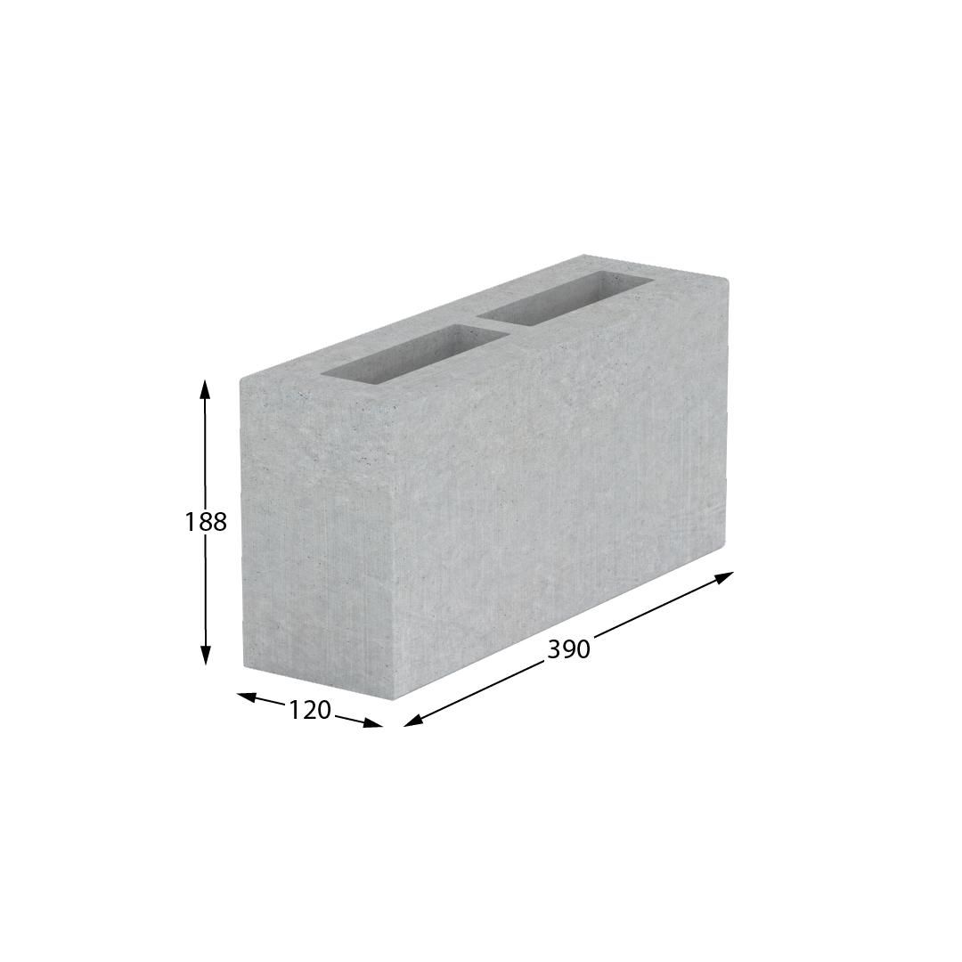 Блок стеновой перегородочный