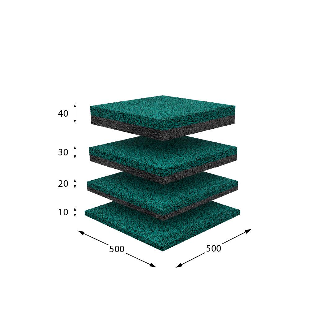 Резиновая плитка зеленая