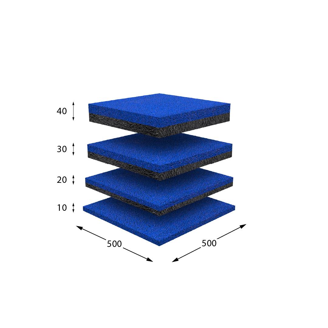Резиновая плитка синяя