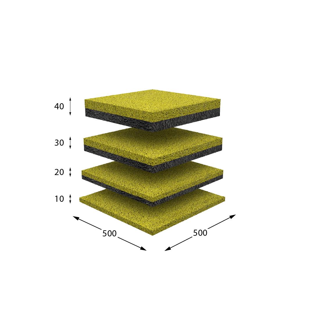 Резиновая плитка желтая