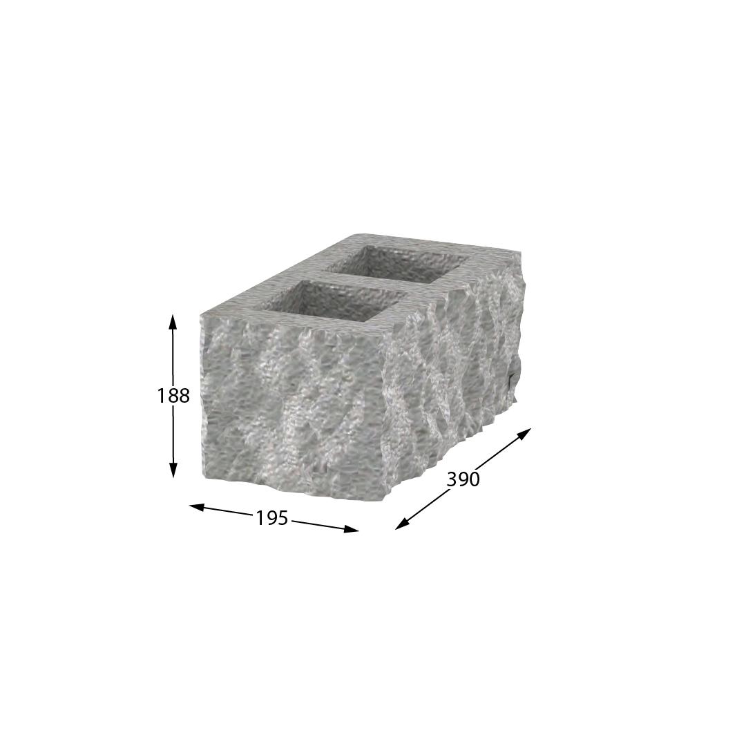 Блок стеновой угловой